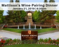 Rodney Strong Vineyards Wine Dinner at Mattison's Forty-One