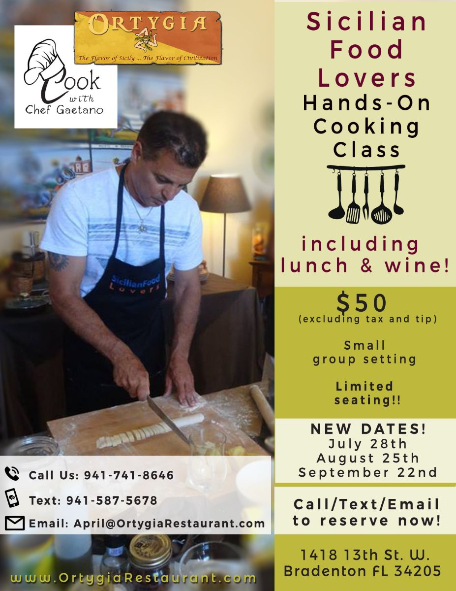 Cooking Classes with Chef Gaetano!