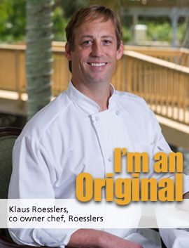 Roesslers Klaus Roessler co owner chef