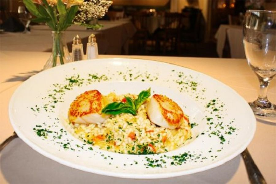 Seared Diver Scallops with Risotto – Cafe Baci